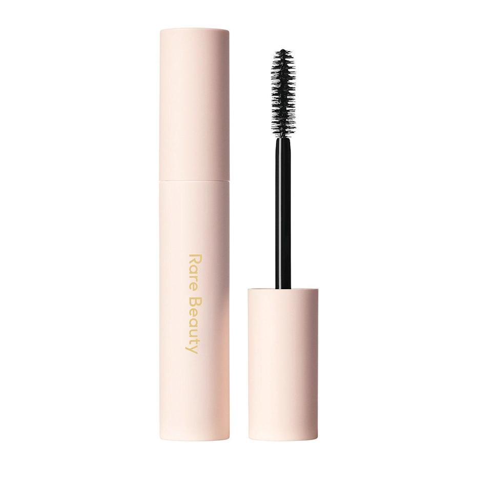 """Gomez once said that """"finding a mascara that works for you is just as personal as finding your go-to foundation,"""" and we couldn't agree more. But Rare Beauty's Perfect Strokes Universal Volumizing Mascara lives up to its name and works like a charm on <a href=""""https://www.allure.com/gallery/editors-favorite-mascaras?mbid=synd_yahoo_rss"""" rel=""""nofollow noopener"""" target=""""_blank"""" data-ylk=""""slk:all lash types"""" class=""""link rapid-noclick-resp"""">all lash types</a>, whether they're naturally fine and sparse, or thick and full. This pitch-black, long-wearing formula hugs each individual lash and pumps them full of volume, lift, and length, as well as conditioning castor oil for a soft, comfortable finish."""