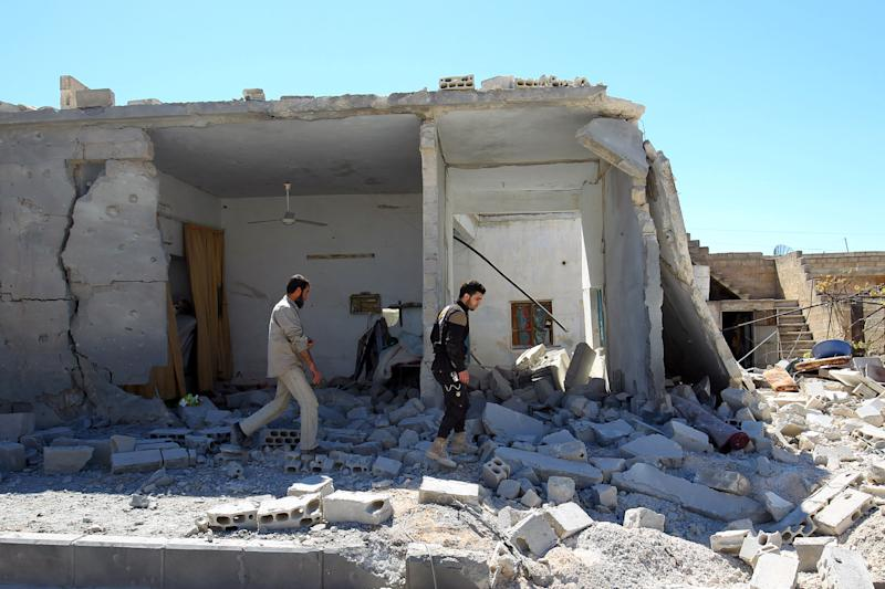 The Site of the Chemical Attack in Syria Was Hit By Airstrikes Again