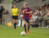 <p><strong>Position:</strong> forward</p> <p><strong>Hometown:</strong> Redding, CA</p> <p><strong>Club:</strong> OL Reign</p> <p><strong>Olympic appearances:</strong> London 2012, Rio 2016</p> <p>Among her many accomplishments, Rapinoe is a two-time World Cup champion and one-time Olympic gold medalist, making her third Olympic appearance in Tokyo. As a leader on the team, she has continuously and publicly fought for equal pay for women athletes. </p>