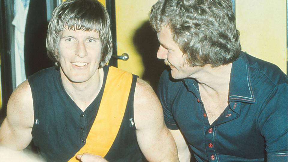 Royce Hart and Barry Richardson, pictured here celebrating a win for Richmond.