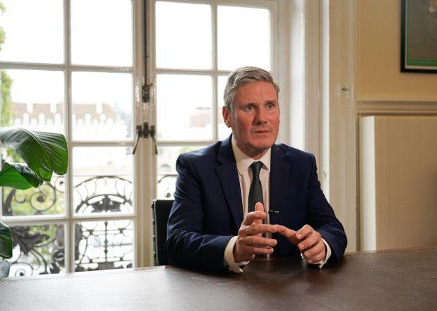 Labour leader Keir Starmer delivers a televised address to the nation
