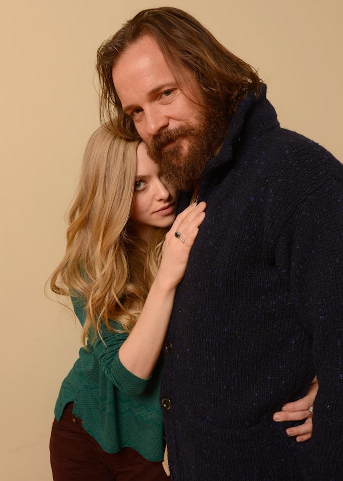 PARK CITY, UT - JANUARY 22:  Actors Amanda Seyfried (L) and Peter Sarsgaard pose for a portrait during the 2013 Sundance Film Festival at the Getty Images Portrait Studio at Village at the Lift on January 22, 2013 in Park City, Utah.  (Photo by Larry Busacca/Getty Images)