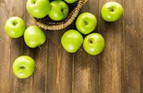 """<p>The Granny Smith apple was discovered by someone actually named Granny Smith; """"Granny"""" Maria Ann Smith found the seedling in the compost pile of her Australia orchard in the 1860s. These popular green apples have a famously tart flavor and are firm and juicy.</p>"""