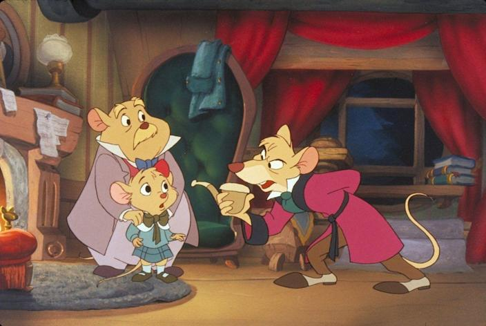 <p>Sherlock Holmes wishes he were as clever as Basil of Baker Street, the rodent sleuth who investigates the disappearance of a toy-maker. Adventure abounds as Basil tracks down the culprit to be Ratigan—one of Disney's most underrated villains—who's planning to kill the mouse queen of England. </p>