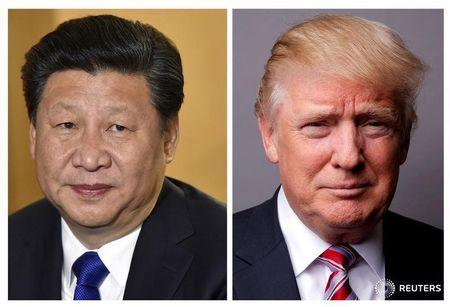 FILE PHOTOS: Combination of file photos of showing Chinese President Xi Jinping and U.S. President Donald Trump
