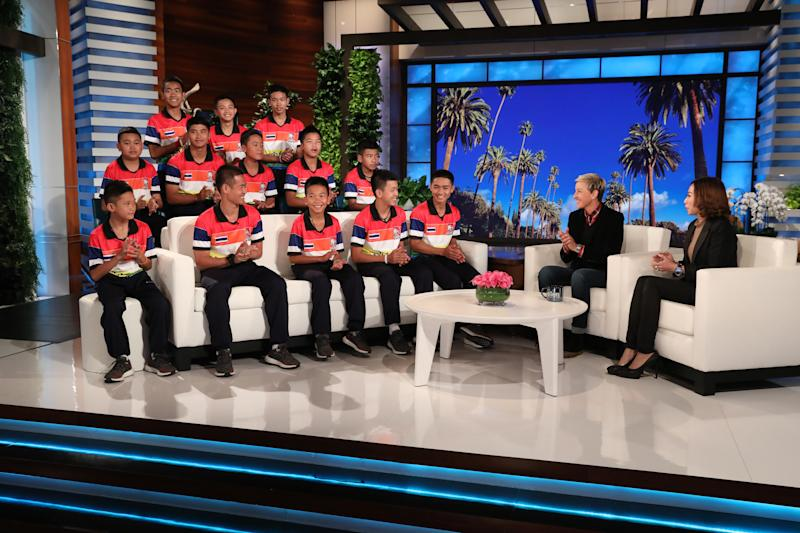 Ellen DeGeneres Welcomes Rescued Thai Soccer Team To Her Show
