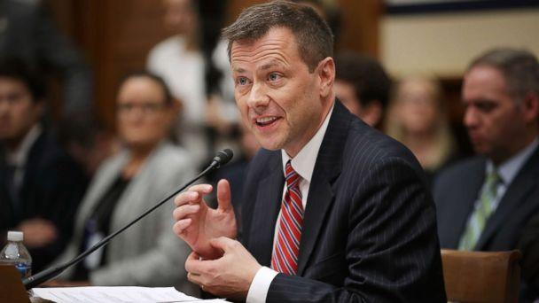 PHOTO: Deputy Assistant FBI Director Peter Strzok testifies before a joint committee hearing of the House Judiciary and Oversight and Government Reform committees on Capitol Hill, July 12, 2018, in Washington. (Chip Somodevilla/Getty Images)