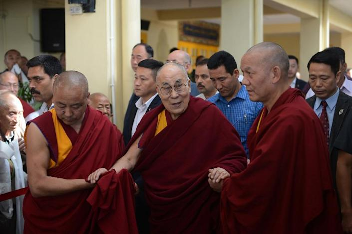 The Dalai Lama no longer advocates independence for Tibet but calls for more autonomy instead (AFP Photo/Lobsang Wangyal)
