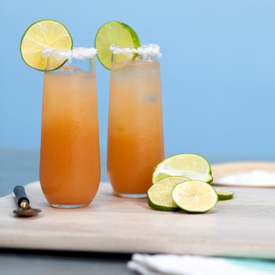 """<p>Say goodbye to screwdrivers, you've just found your new favorite brunch cocktail. It doesn't get much better than this perfect blend of vodka and grapefruit juice. </p> <p><a href=""""https://www.myrecipes.com/recipe/salty-dog-0"""">The Salty Dog Recipe</a></p>"""