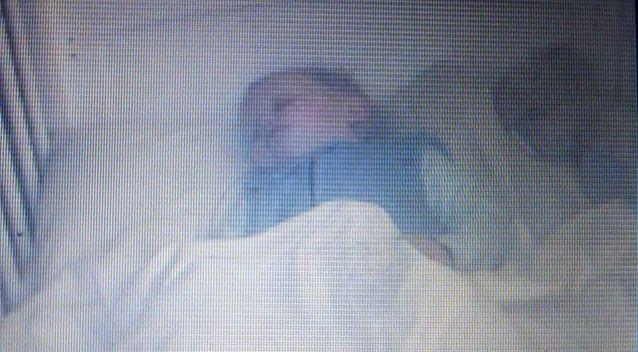 The ghostly shape moved positions beside Sebastian as he napped, the toddler's dad said. Picture: Laura Haigh