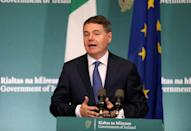 Ireland's finance minister Paschal Donohoe won a key concession to remove a clause calling for 'at least 15 percent' tax (AFP/STRINGER)