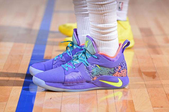 Expect to see many more splashes of color coming to an NBA court near you this season. (Getty)