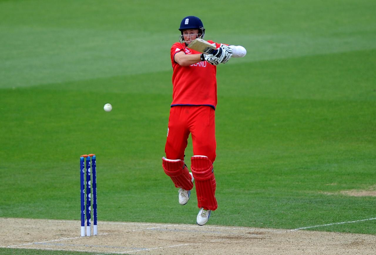 England's Joe Root bats during the ICC Champions Trophy, Semi Final at the Oval, London.