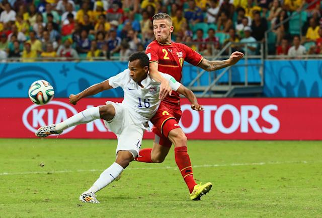 Julian Green scored his first international goal for the United States as a 19-year-old in the World Cup Round of 16 against Belgium in 2014. (Getty)