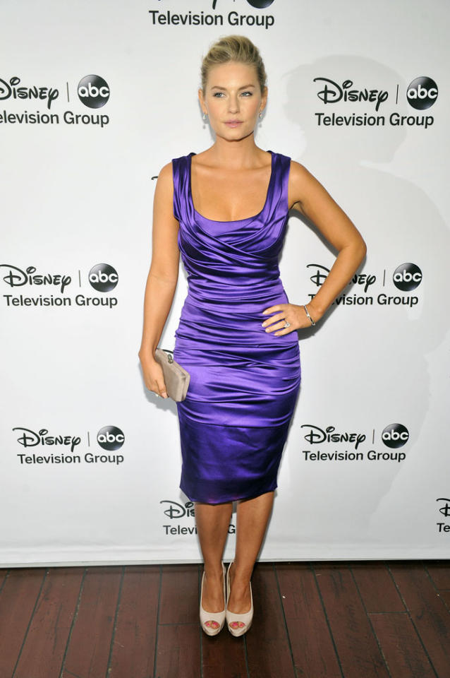 "Elisha Cuthbert (""Happy Endings"") attends the Disney ABC Television Group 2013 TCA Winter Press Tour at The Langham Huntington Hotel and Spa on January 10, 2013 in Pasadena, California."