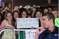 <p>It's safe to say that every teenage girl was chasing after Phelps following his 2008 Olympic performance. Overnight, the Olympian transformed from athlete to rockstar-level heartthrob. </p>