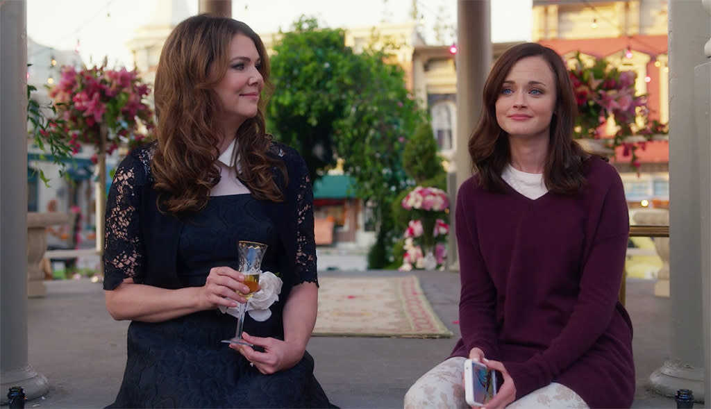 <p>The Globes was one of the few major awards to give star Lauren Graham a nomination during <i>Gilmore Girls</i>' original run, and the much ballyhooed Netflix update seemed likely to get some sort of Globes love. But alas, there will be no GGs for the GGs, not even the universally praised performance of scene stealer Kelly Bishop. (Credit: Netflix) </p>