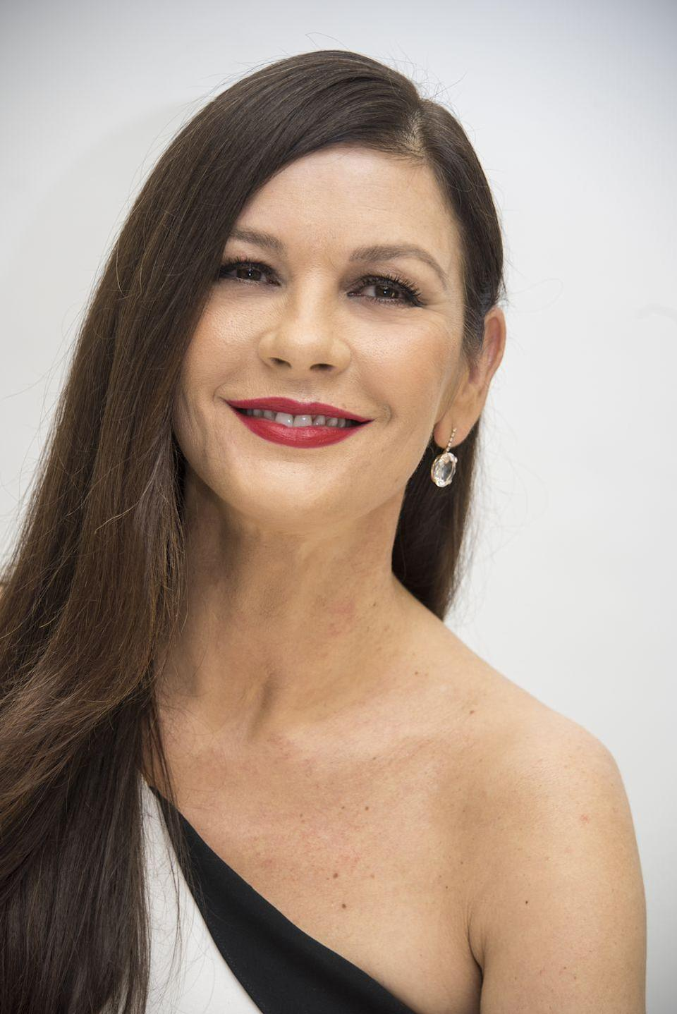 """<p>The <em>Chicago </em>and <em>Intolerable Cruelty </em>actress has <a href=""""http://abcnews.go.com/GMA/video/catherine-zeta-jones-gma-interview-2012-discusses-bipolar-17903236"""" rel=""""nofollow noopener"""" target=""""_blank"""" data-ylk=""""slk:spoken"""" class=""""link rapid-noclick-resp"""">spoken</a> about her battle with bipolar disorder for years, especially during her split and subsequent reconciliation with husband Michael Douglas. The mental illness, also known as manic-depressive illness, causes extreme episodes of depression and abnormally elevated mood called mania or hypomania. </p>"""
