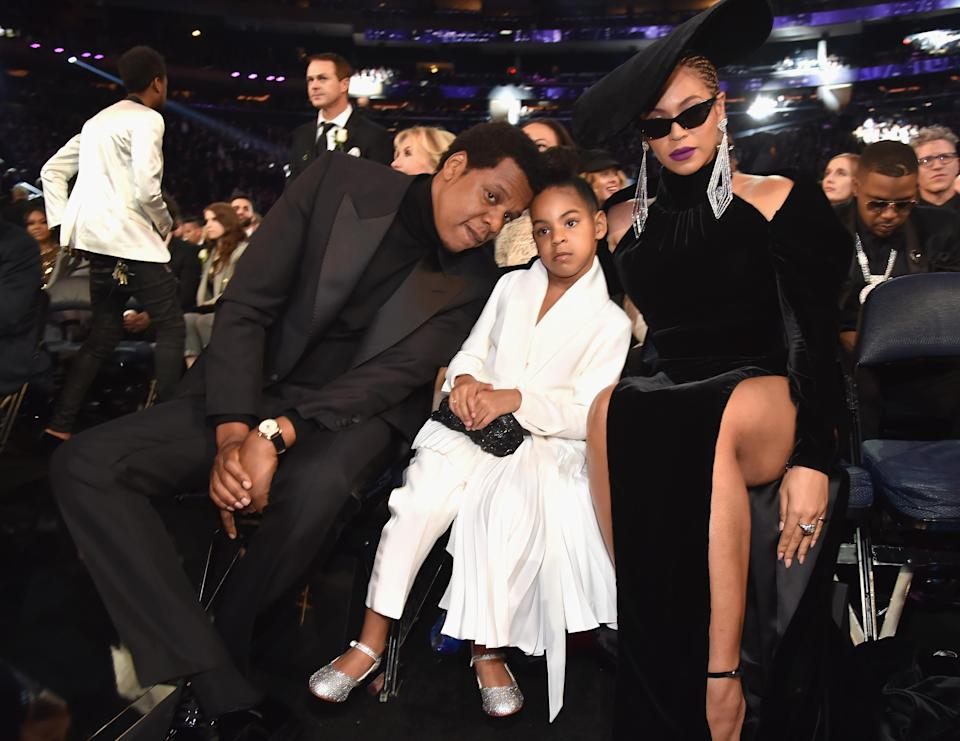 Blue Ivy is so done with her parents. [Photo: Getty]