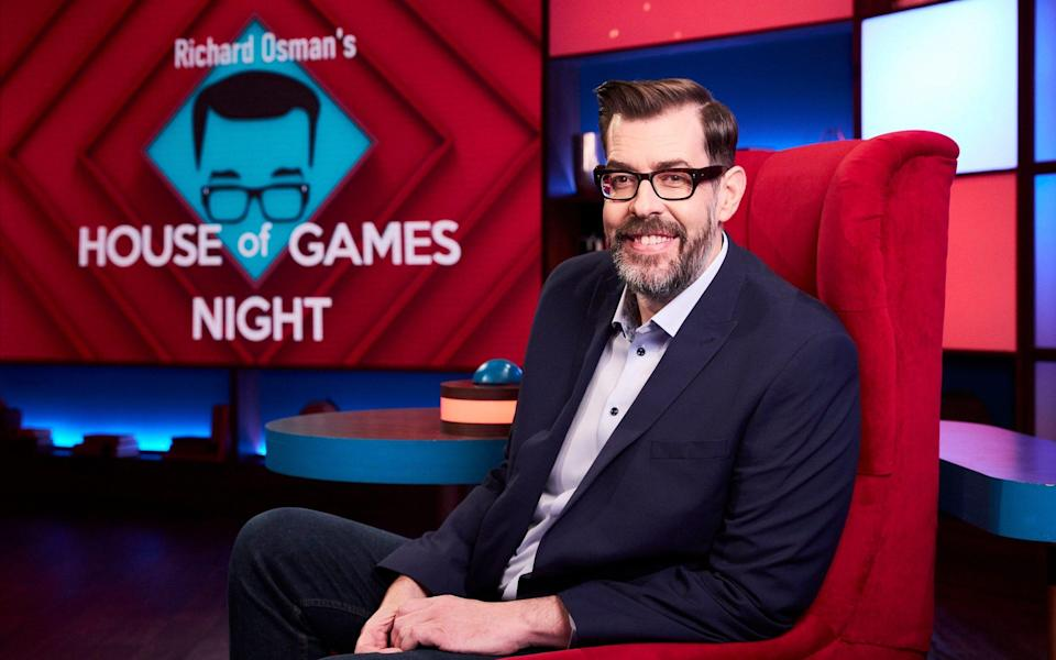 Celebrities go toe-to-toe in a variety of fun trivia-based games on Richard Osman's House of Games Night - Matt Frost