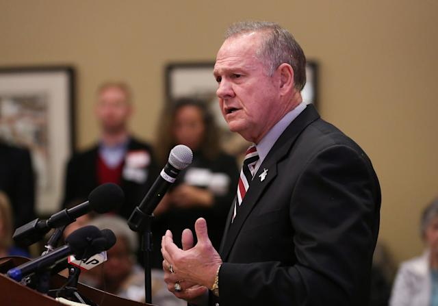 """Republican Roy Moore's bid for the Senate has sparked opposition from some Christian leaders in Alabama, who criticize him for """"extremist beliefs."""" (Marvin Gentry / Reuters)"""