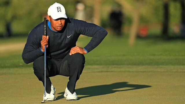 Tiger Woods made it interesting on Sunday, but a late collapse kept him off the podium at the Arnold Palmer Invitational.