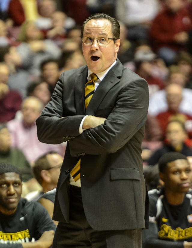 Wichita State coach Gregg Marshall yells during an NCAA college basketball game against Alabama on Tuesday, Dec. 17, 2013, in Tuscaloosa, Ala. (AP Photo/AL.com, Vasha Hunt)