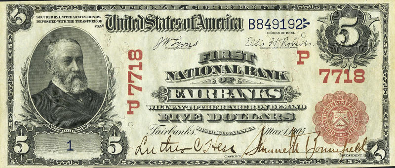 Rare century-old $5 Alaska bill to be auctioned
