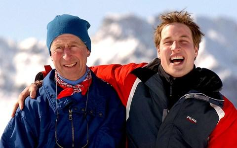 The Prince of Wales with Prince William - Credit: PA