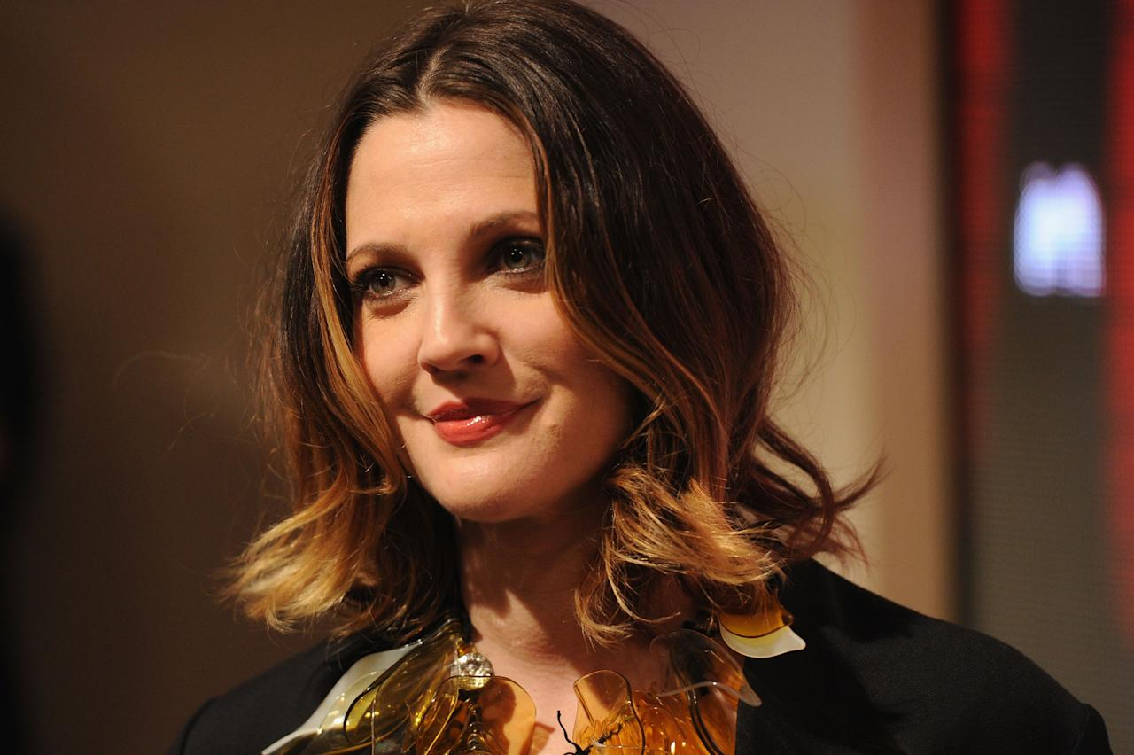 LOS ANGELES, CA - FEBRUARY 17:  Actress Drew Barrymore attends the Marni at H&M Collection Launch at Lloyd Wright's Sowden House on February 17, 2012 in Los Angeles, California.  (Photo by Jason Merritt/Getty Images for Marni and H&M)