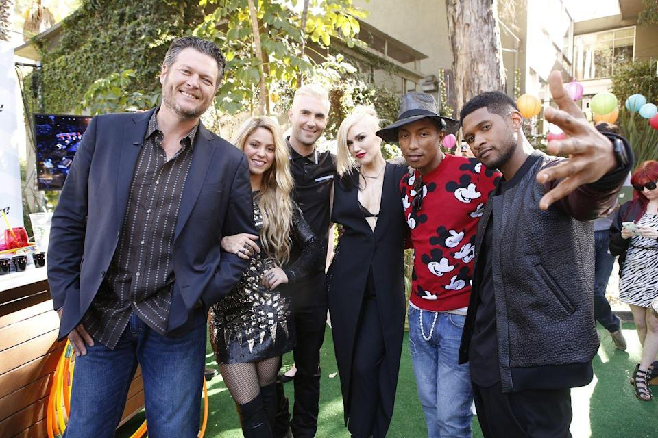 <p>This was the first public live-taping appearance on <em>The Voice</em> for Gwen, and the first photo of Gwen and Blake together in any capacity. </p>