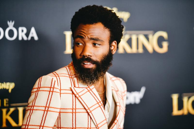 HOLLYWOOD, CALIFORNIA - JULY 09: (EDITORS NOTE: Image has been edited using digital filters) Donald Glover attends the premiere of Disney's
