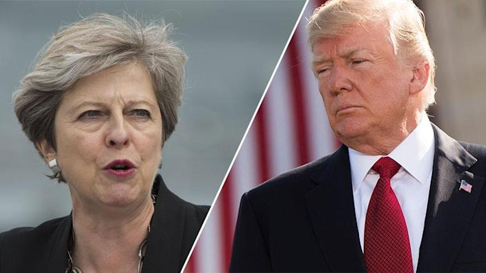 Theresa May stepped in to correct Donald Trump about his views of 'no-go areas' in London
