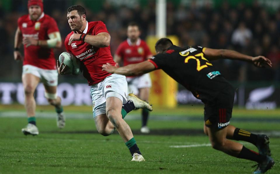 Robbie Henshaw plays for the midweek Lions in New Zealand - GETTY IMAGES