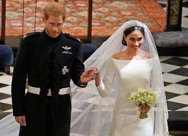 Britain's Prince Harry and Suits actress Meghan Markle tied the knot over the weekend in a gorgeous ceremony at Windsor Castle's St George's Chapel. — Picture by Reuters