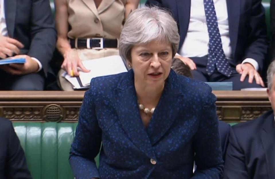 <em>Savaged – Theresa May is working to unite her party following a savaging by Boris Johnson in his resignation letter (Picture: PA)</em>