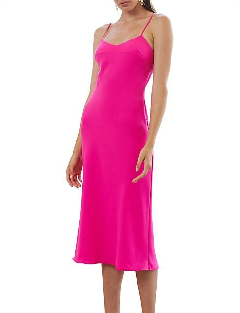 By Johnny pink cocktail Christmas summer party midi slip dress
