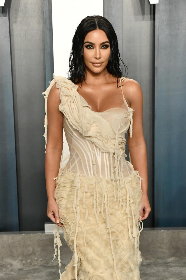Kim's hair look was created using a £10 hairbrush. (Getty Images)