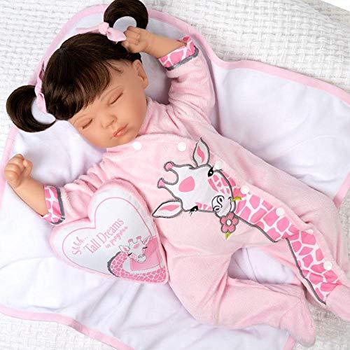 Paradise Galleries Reborn Toddler Doll with Heartbeat- Sleeping Tall Dreams, 20 inches, SoftTouch Vinyl, Weighted Body, 5-Piece Reborn Doll Set (Amazon / Amazon)