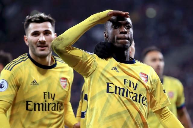 Nicolas Pepe, right, headlined an ambitious summer recruitment drive (Adam Davy/PA)