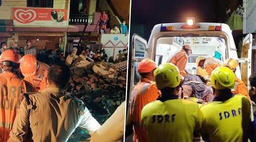Dehradun Building Collapse: 4 Dead, Several Rescued by NDRF From Rubble After Building Falls in Chhukhuwala