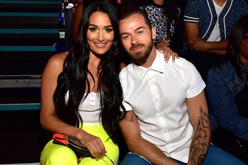 Nikki Bella, Artem Chigvintsev | Matt Winkelmeyer/KCASports2019/Getty Images for Nickelodeon