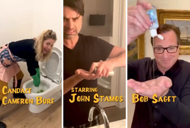 Full House cast virtually reunites for 'Full Quarantine' parody