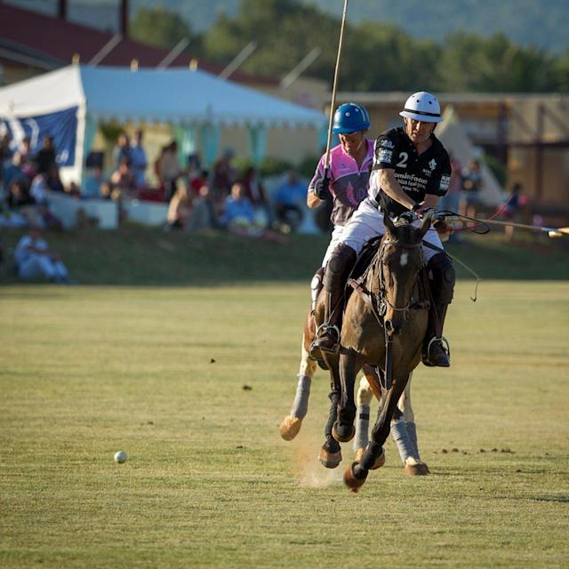 <span>Year round sun at Ibiza Polo Club</span> <span>Credit: DOMINIC JAMES </span>