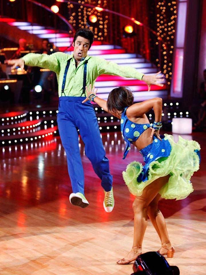 """Gilles Marini and Cheryl Burke perform the Lindy Hop to """"Go Daddy-O"""" by Big Bad Voodoo Daddy on """"Dancing with the Stars."""""""