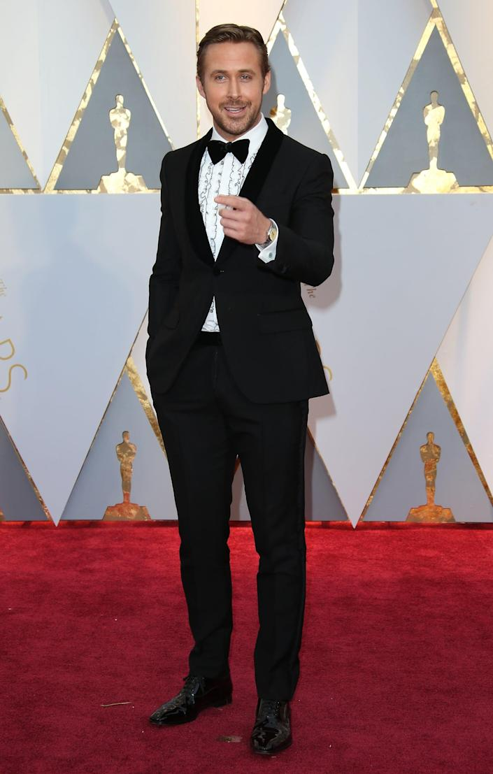 HOLLYWOOD, CA - FEBRUARY 26: Actor Ryan Gosling arrives at the 89th Annual Academy Awards at Hollywood & Highland Center on February 26, 2017 in Hollywood, California. (Photo by Dan MacMedan/Getty Images)