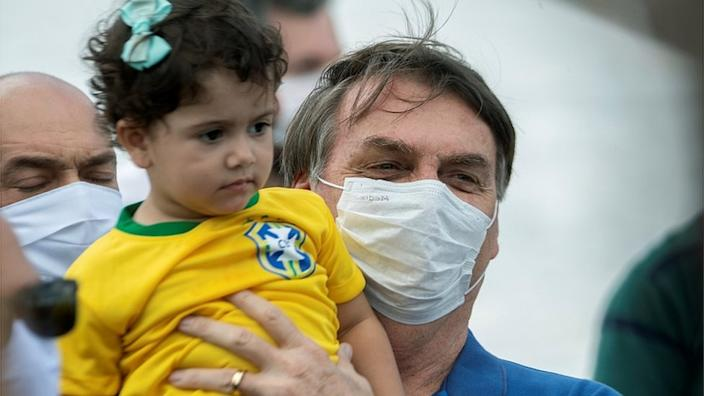 President Bolsonaro told a rally on Sunday that anti-virus measures were excessive
