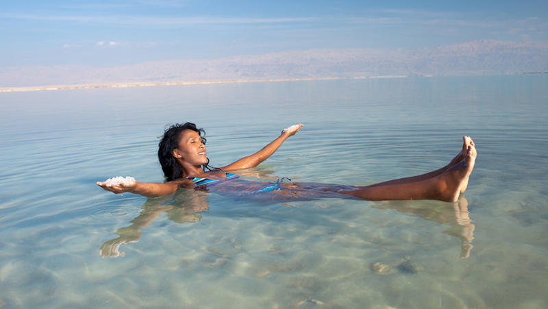 The high levels of saline make floating here easy. Photo: iStock