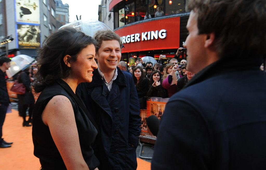 "Alia Shawkat & Michael Cera attend the red carpet premiere for the launch of Netflix Original Series, ""Arrested Development,"" Season 4 on May 09, 2013 at Vue Leicester Square in London, England."
