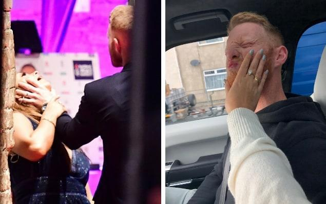 Ben Stokes' wife played down the photograph with a tweet on Tuesday - Backgrid / Twitter: Clarey_11